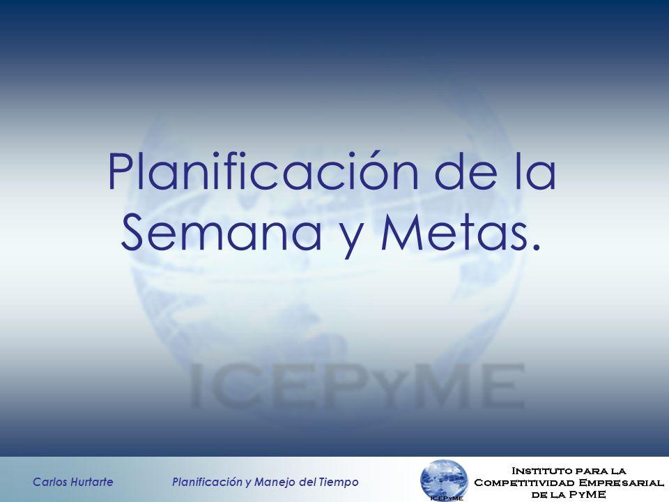 Planificación de la Semana y Metas.