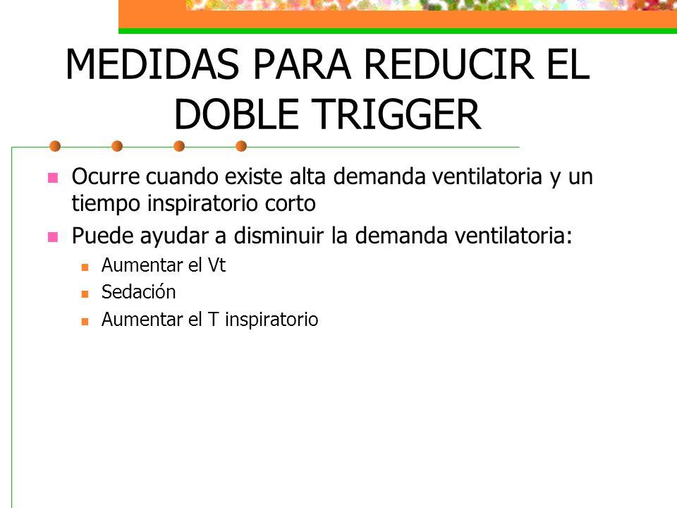 MEDIDAS PARA REDUCIR EL DOBLE TRIGGER