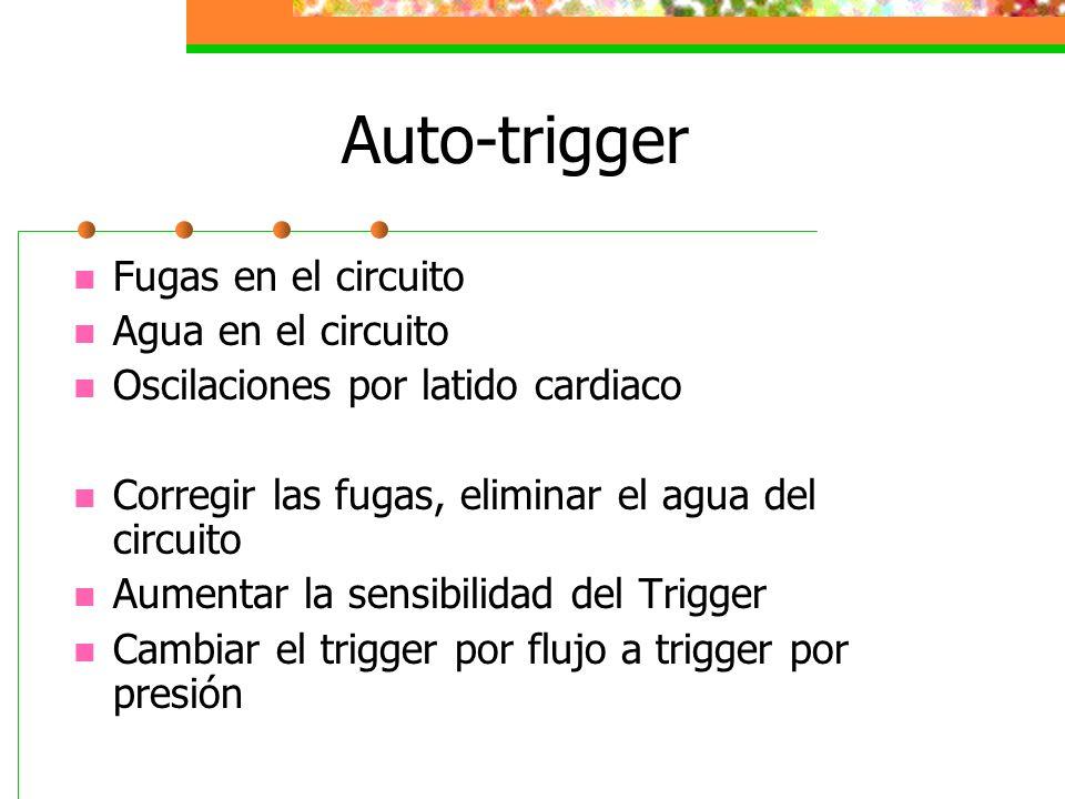 Auto-trigger Fugas en el circuito Agua en el circuito