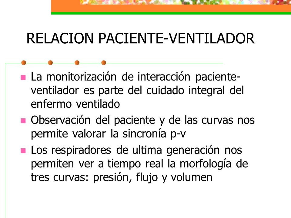 RELACION PACIENTE-VENTILADOR