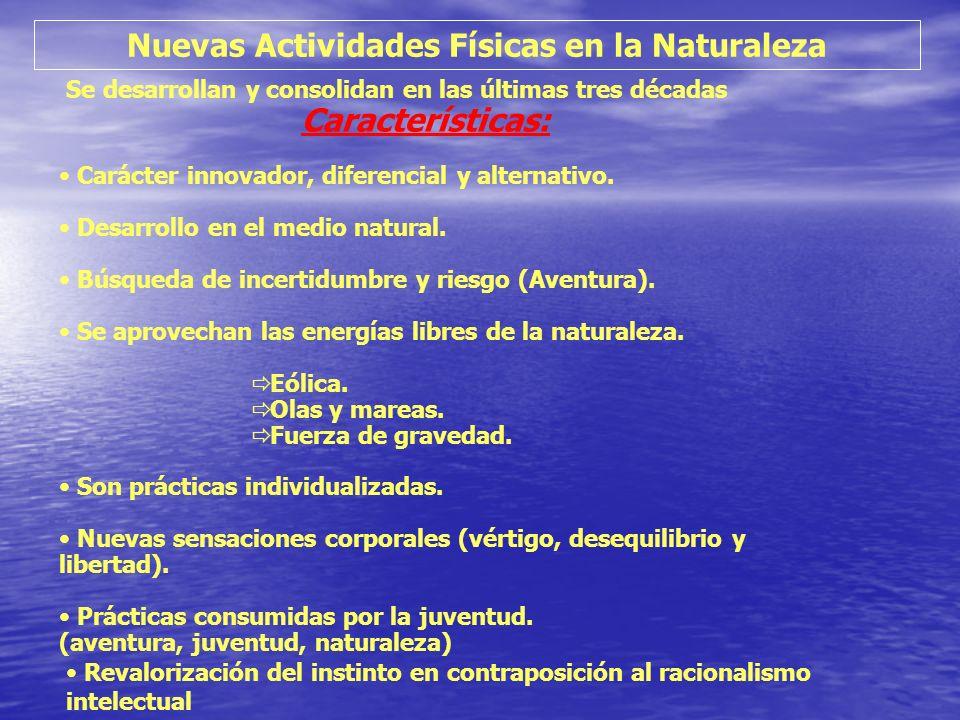 Nuevas Actividades Físicas en la Naturaleza