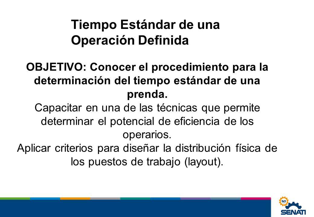 Tiempo Estándar de una Operación Definida