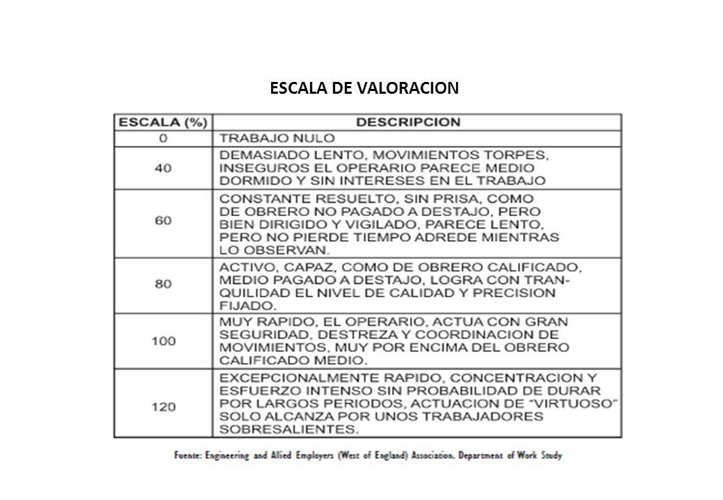 ESCALA DE VALORACION
