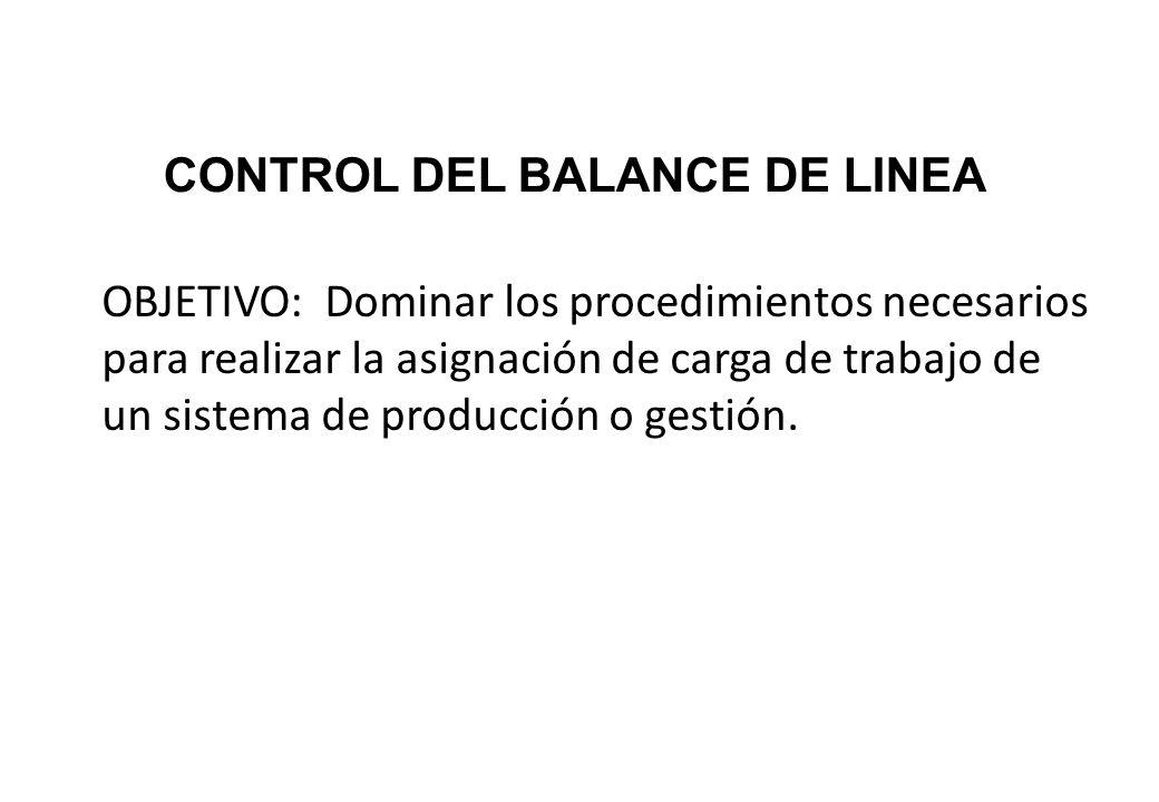 CONTROL DEL BALANCE DE LINEA