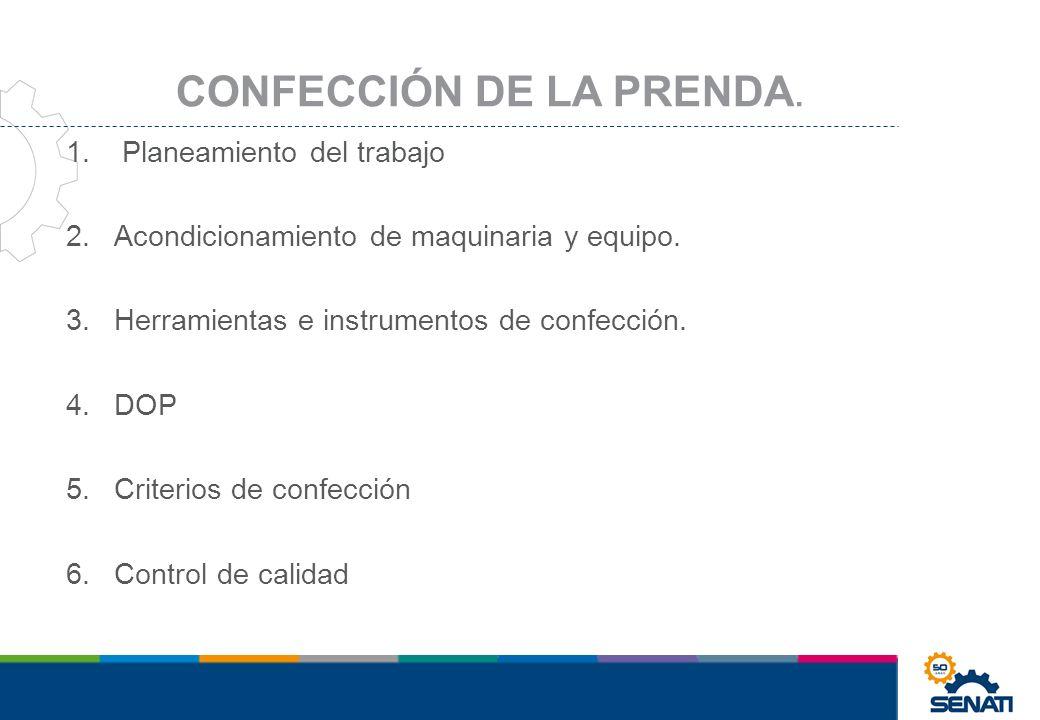 CONFECCIÓN DE LA PRENDA.