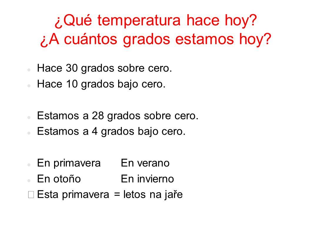 ¿Qué temperatura hace hoy ¿A cuántos grados estamos hoy