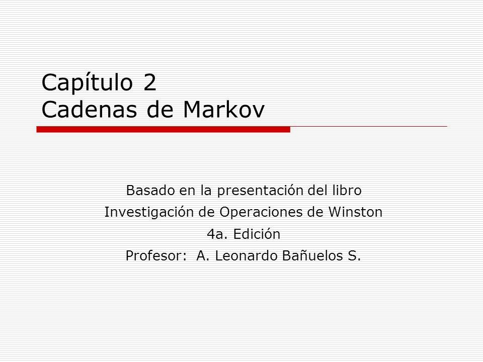 Capítulo 2 Cadenas de Markov