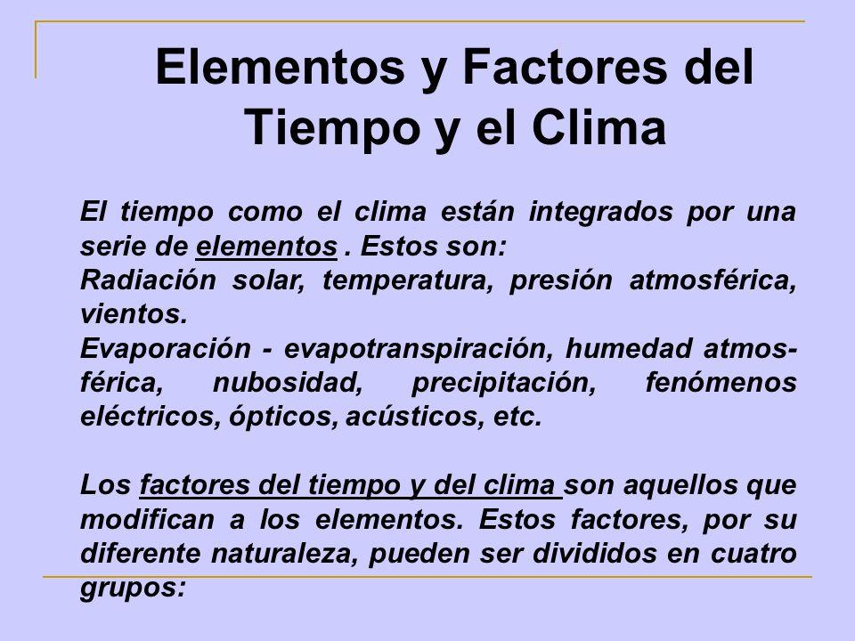 Elementos y Factores del Tiempo y el Clima