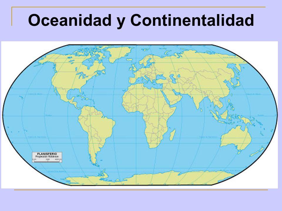 Oceanidad y Continentalidad
