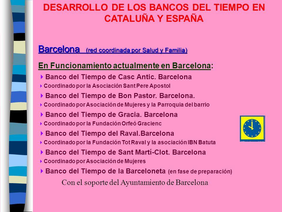 DESARROLLO DE LOS BANCOS DEL TIEMPO EN CATALUÑA Y ESPAÑA