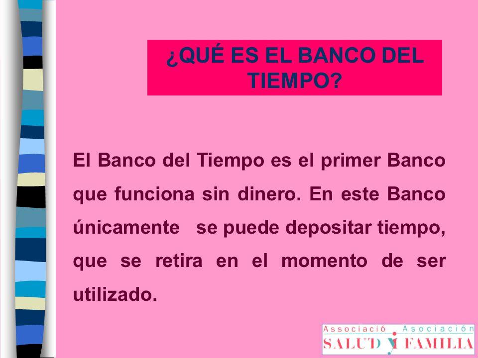 ¿QUÉ ES EL BANCO DEL TIEMPO