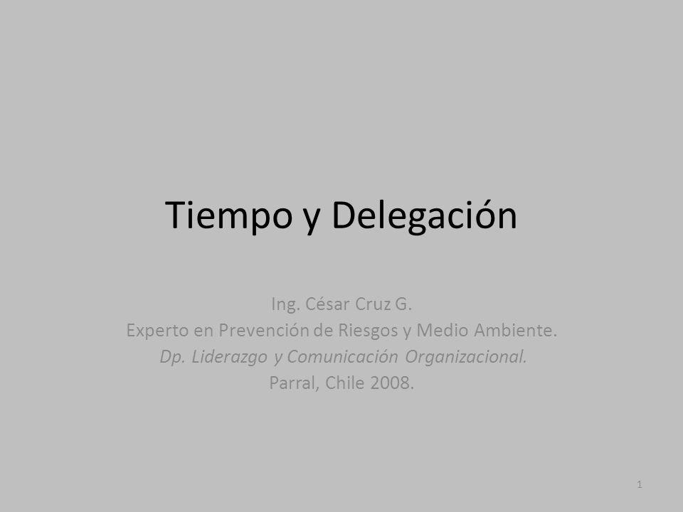 Tiempo y Delegación Ing. César Cruz G.