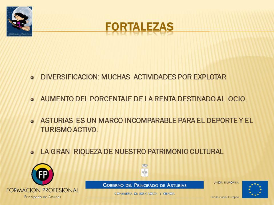 FORTALEZAS DIVERSIFICACION: MUCHAS ACTIVIDADES POR EXPLOTAR