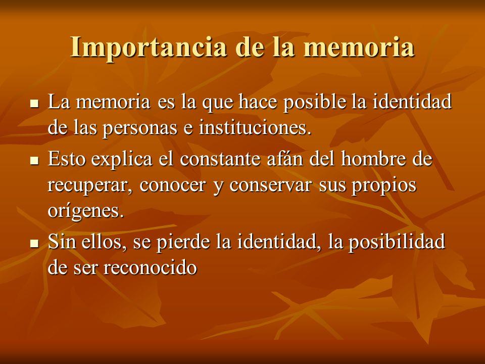 Importancia de la memoria