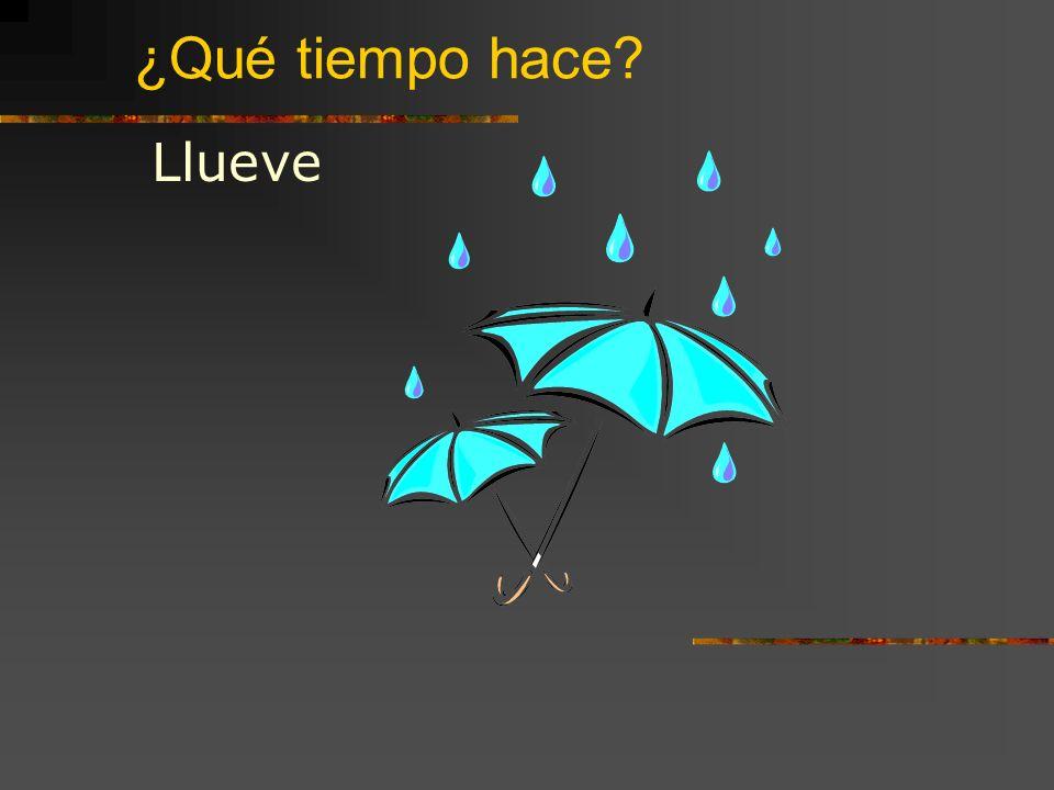 ¿Qué tiempo hace Llueve