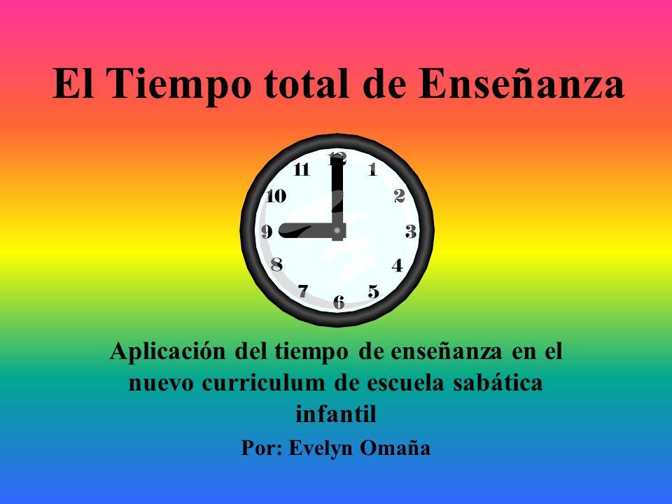 El Tiempo total de Enseñanza