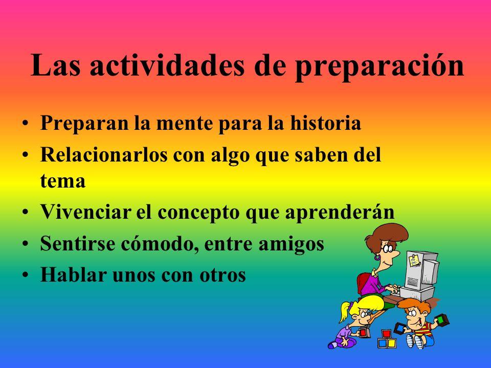 Las actividades de preparación