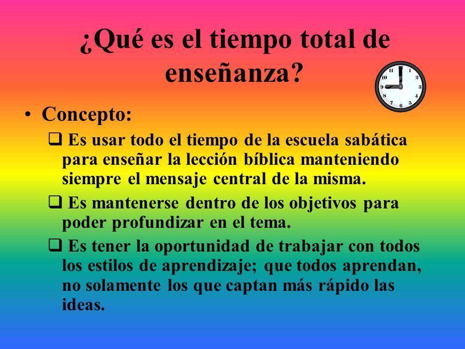 ¿Qué es el tiempo total de enseñanza