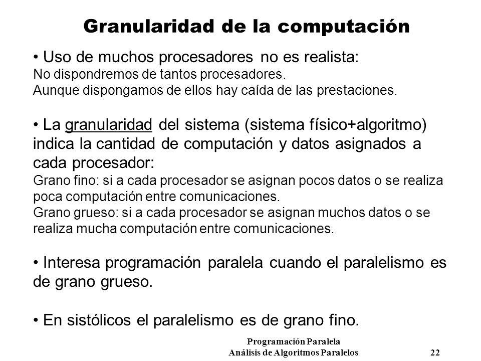 Granularidad de la computación