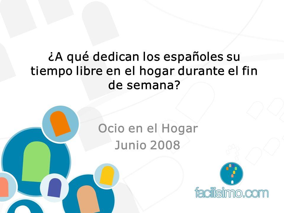 ¿A qué dedican los españoles su tiempo libre en el hogar durante el fin de semana