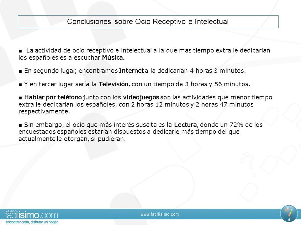 Conclusiones sobre Ocio Receptivo e Intelectual
