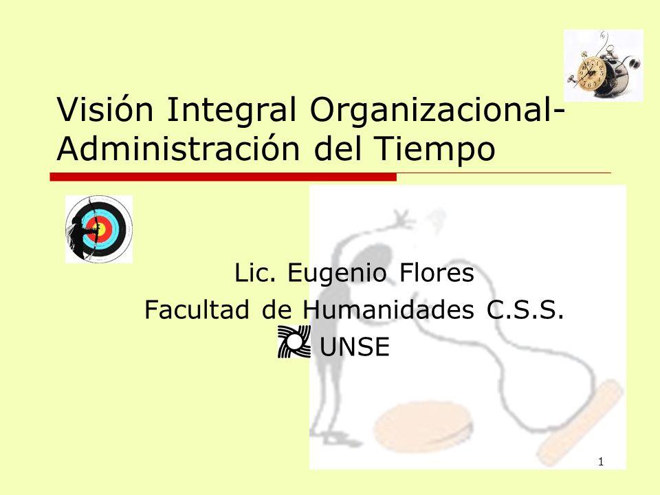 Visión Integral Organizacional- Administración del Tiempo