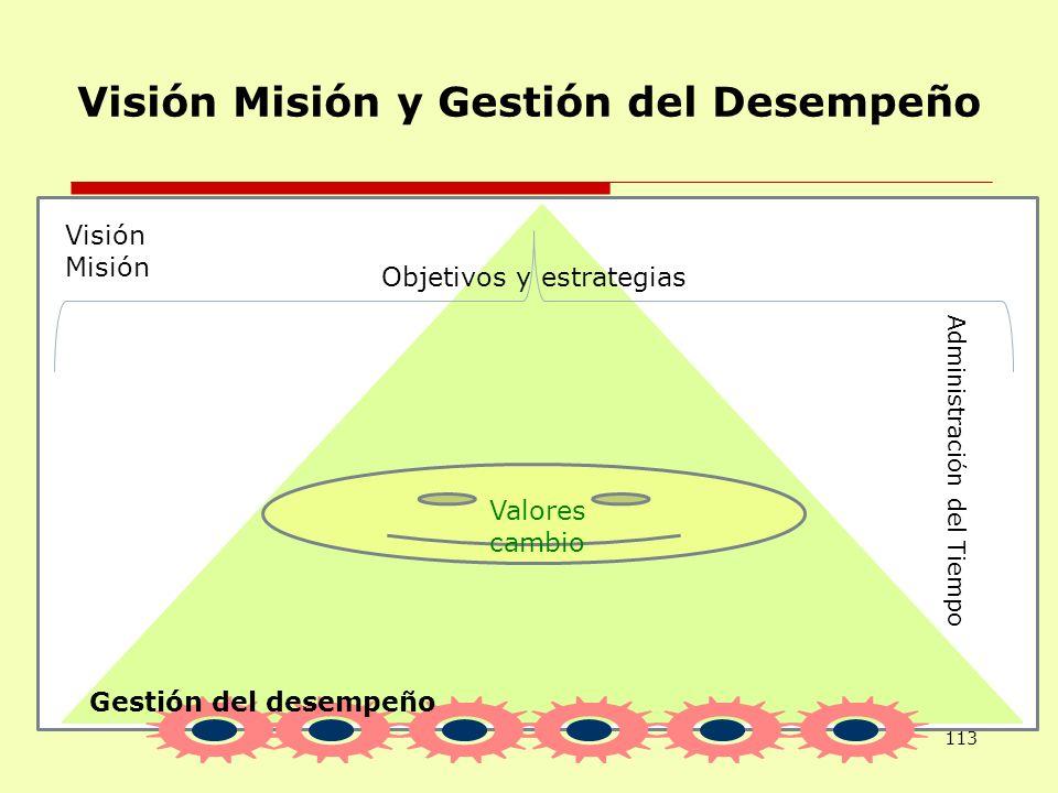 Visión Misión y Gestión del Desempeño