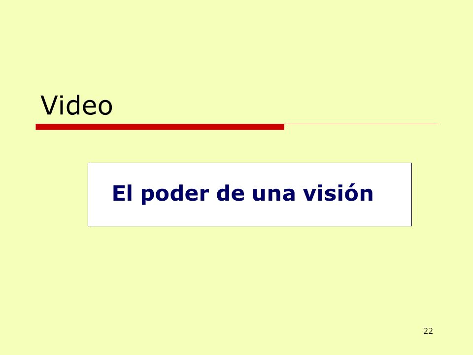 Video El poder de una visión