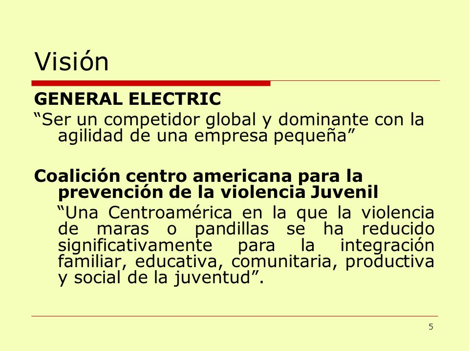 Visión GENERAL ELECTRIC