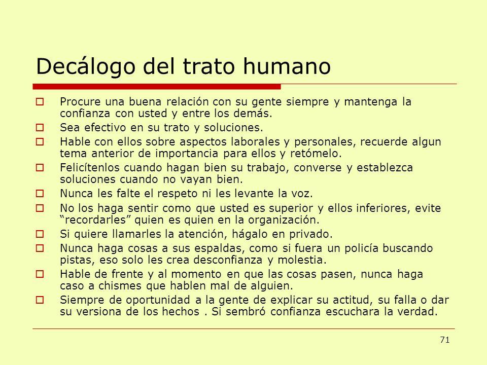 Decálogo del trato humano