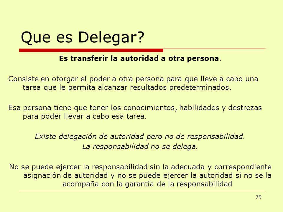 Que es Delegar