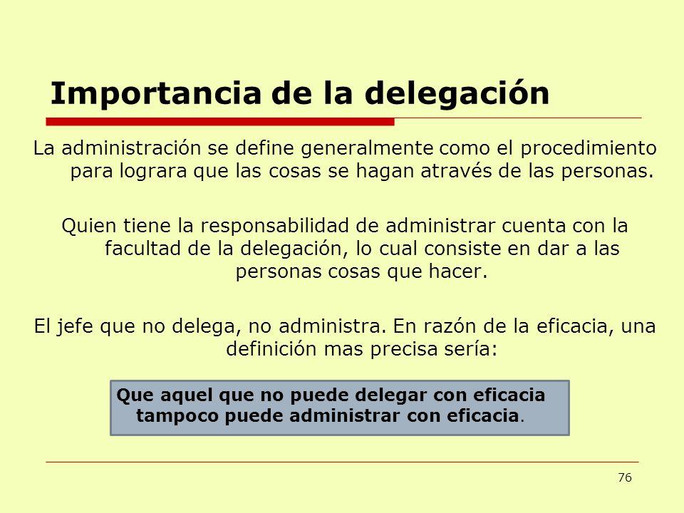 Importancia de la delegación