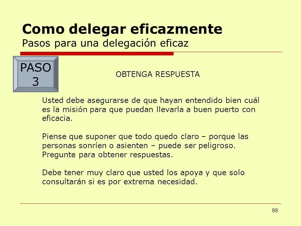 Como delegar eficazmente Pasos para una delegación eficaz