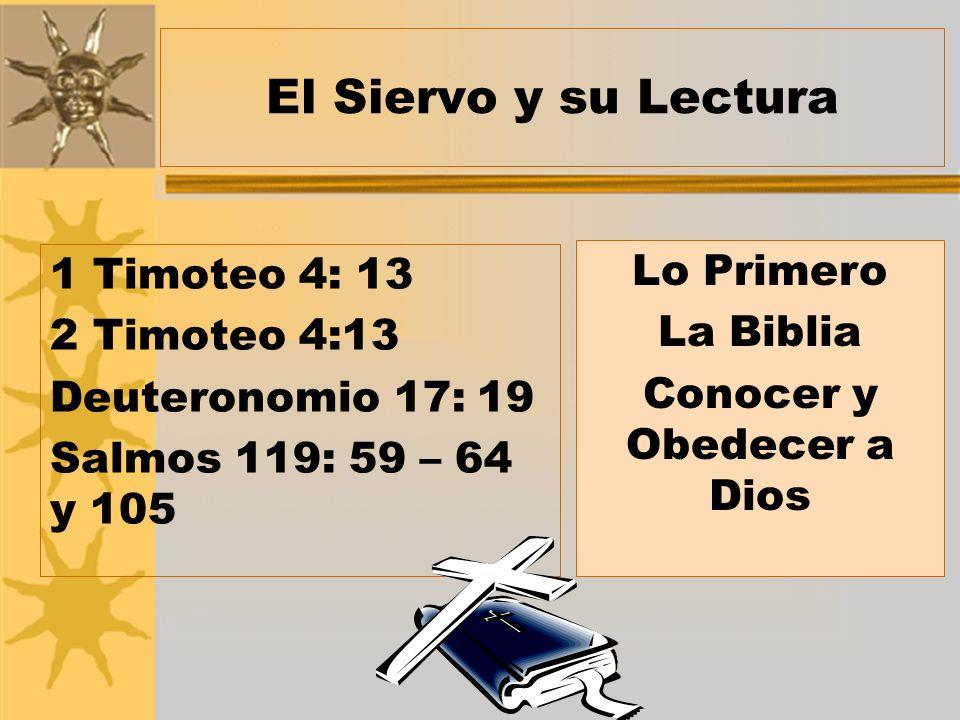 Conocer y Obedecer a Dios