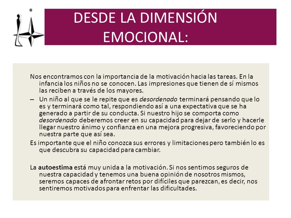 DESDE LA DIMENSIÓN EMOCIONAL: