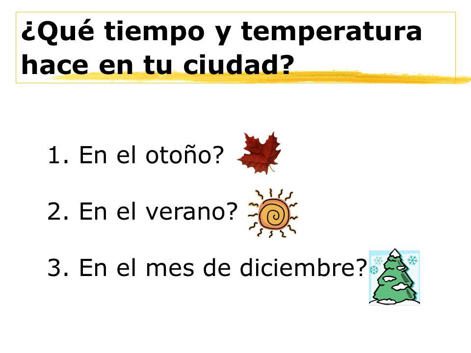 ¿Qué tiempo y temperatura hace en tu ciudad