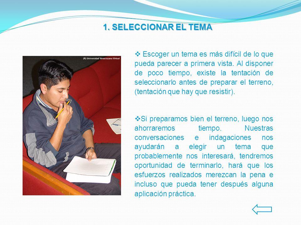1. SELECCIONAR EL TEMA