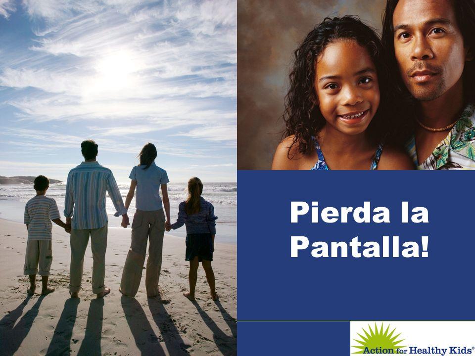 Pierda la Pantalla! Saludos y bienvenidos a la presentación titulada Perder la Pantalla cual es parte del seminario de Acción Para Niños Saludables.