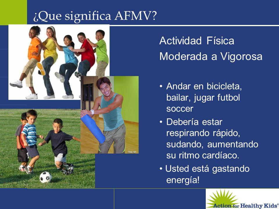¿Que significa AFMV Actividad Física Moderada a Vigorosa