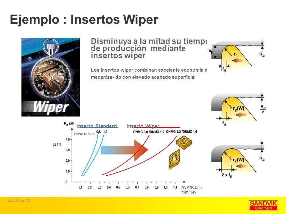 Ejemplo : Insertos Wiper