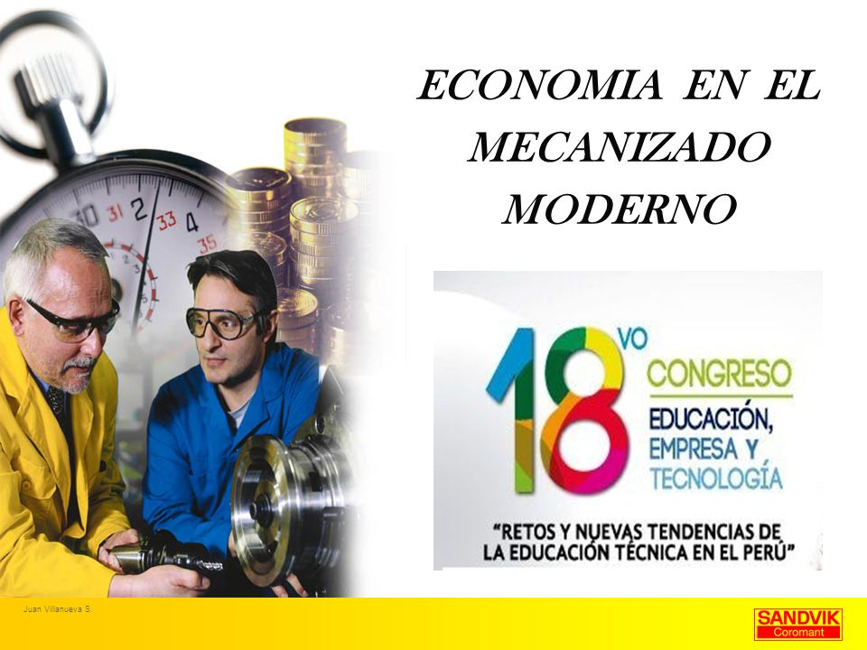 ECONOMIA EN EL MECANIZADO MODERNO