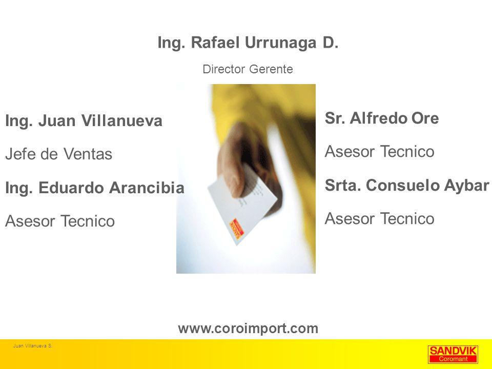 Ing. Rafael Urrunaga D. Sr. Alfredo Ore Ing. Juan Villanueva