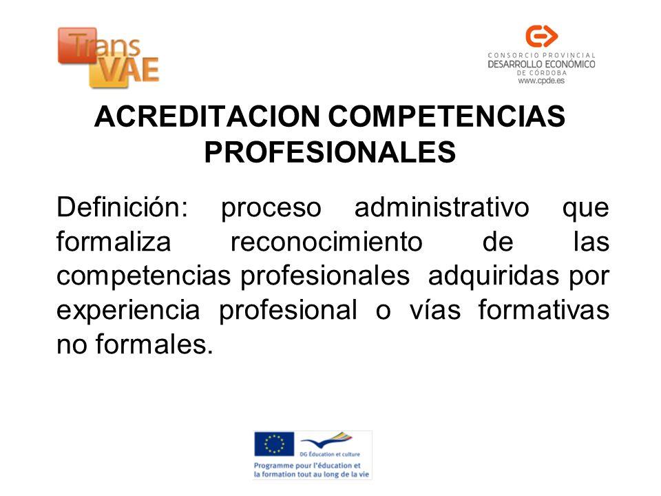 ACREDITACION COMPETENCIAS PROFESIONALES