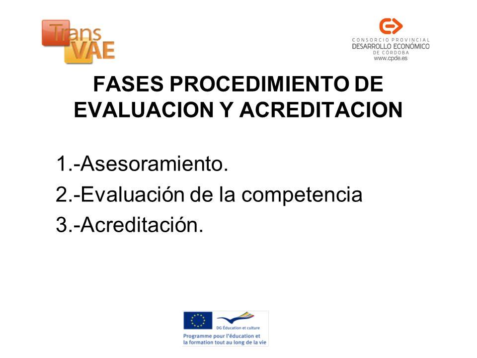 FASES PROCEDIMIENTO DE EVALUACION Y ACREDITACION