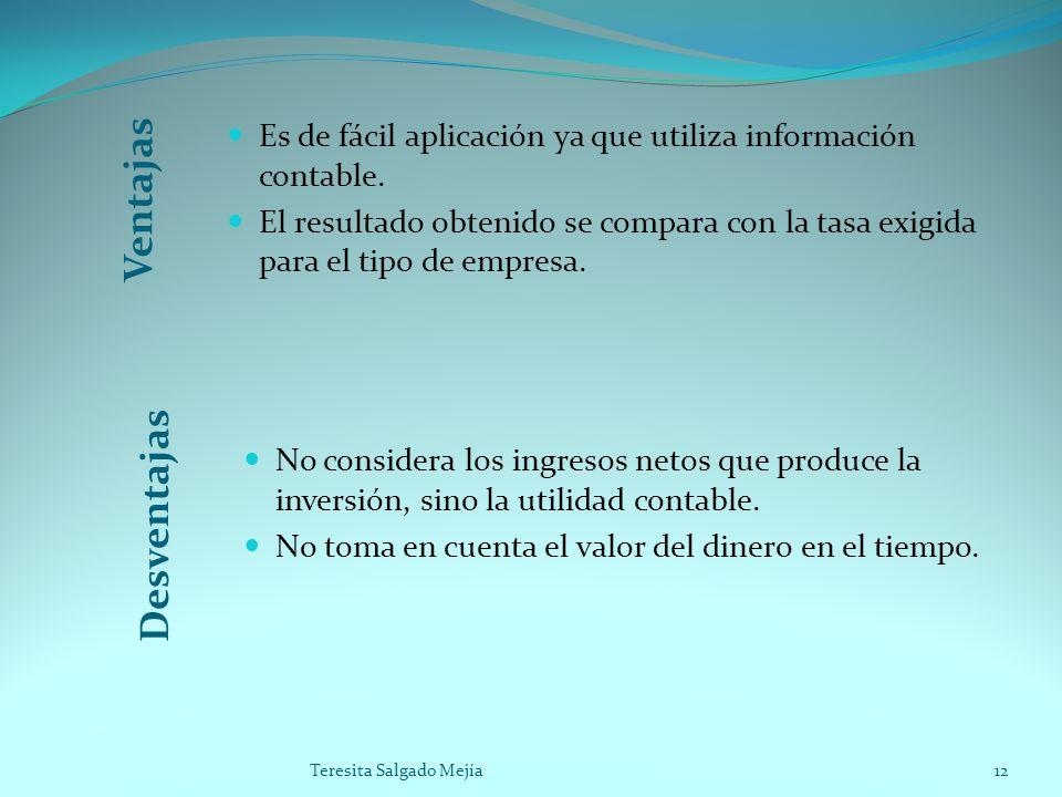 Es de fácil aplicación ya que utiliza información contable.