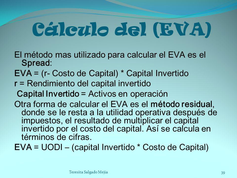 Cálculo del (EVA)