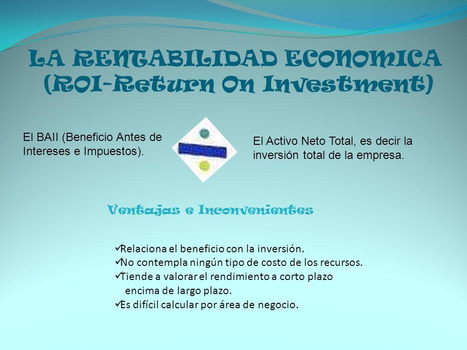 LA RENTABILIDAD ECONOMICA (ROI-Return On Investment)