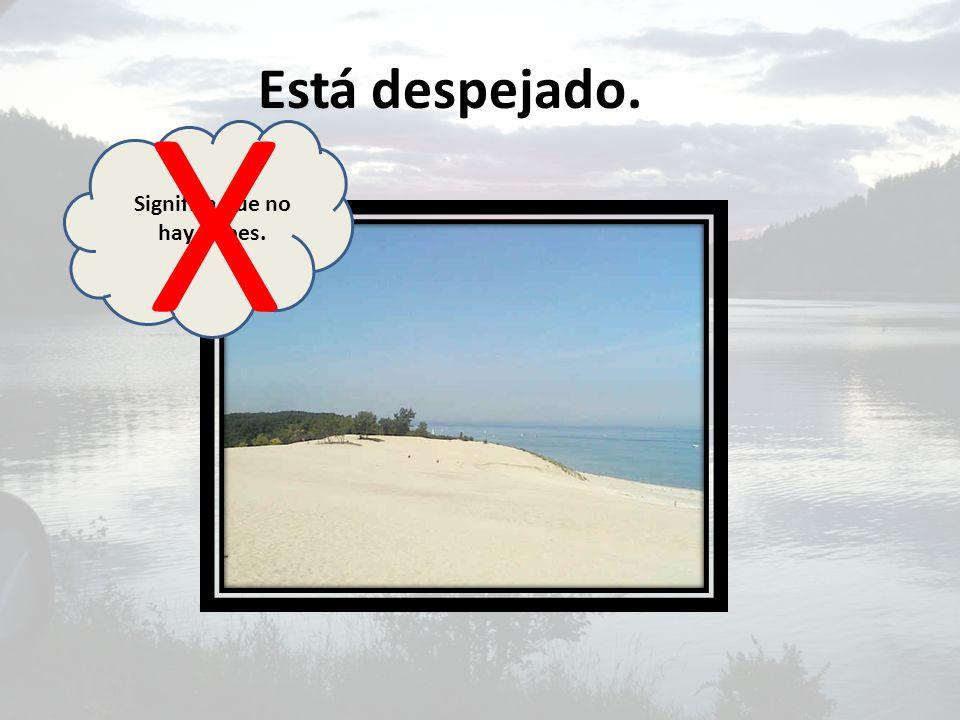 Significa que no hay nubes.