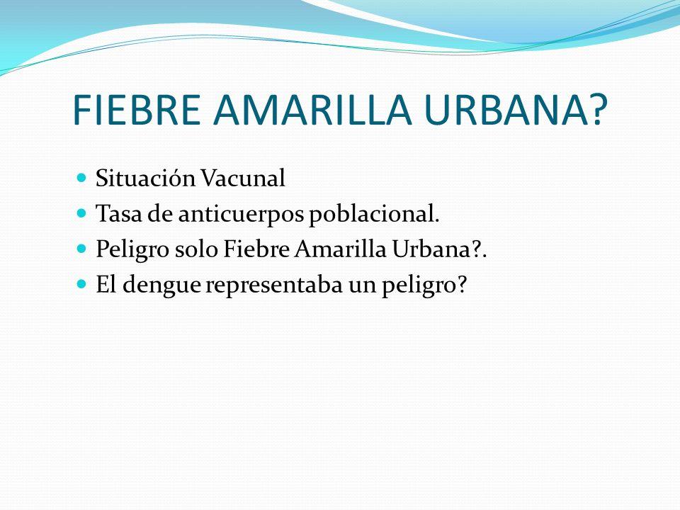 FIEBRE AMARILLA URBANA