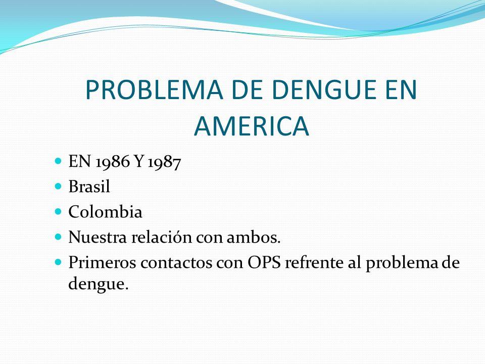 PROBLEMA DE DENGUE EN AMERICA